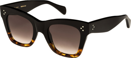 Celine Two-Tone Gradient Cat-Eye Sunglasses, Black Pattern