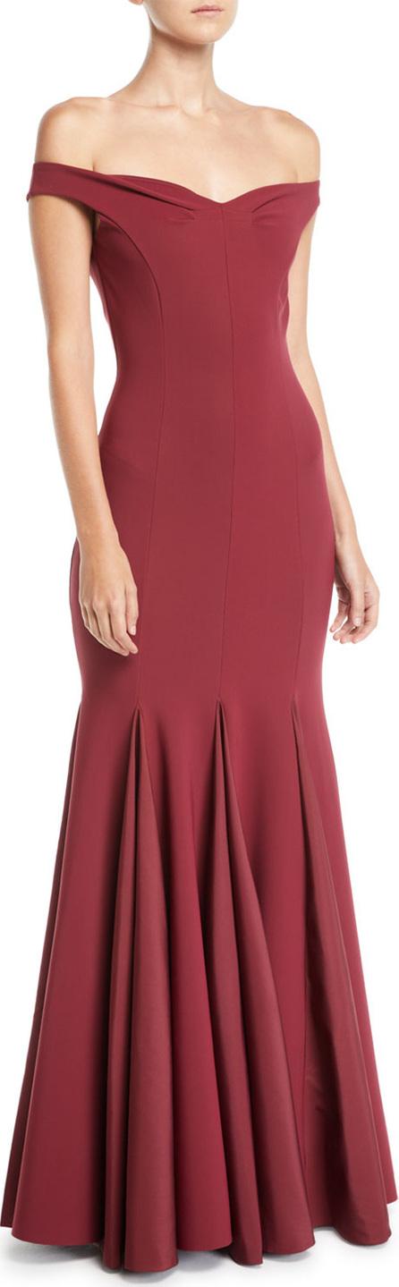 La Petite Robe di Chiara Boni Diva Godet-Hem Taffeta Gown