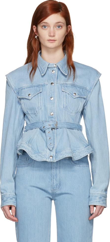 Marques'Almeida Blue Denim Detachable Sleeve Jacket