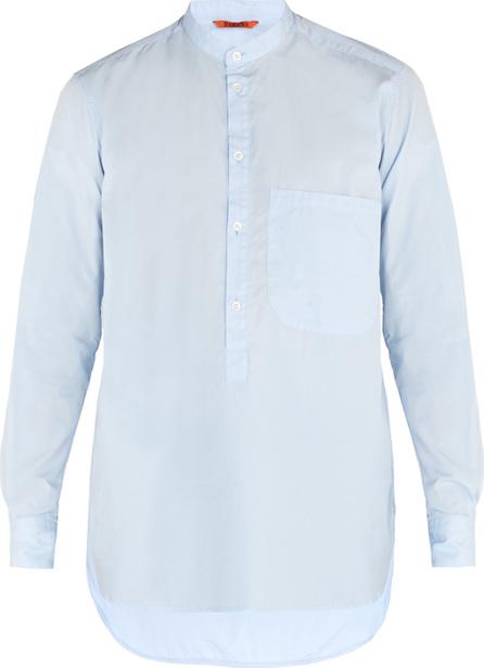 Barena Venezia Granddad-collar cotton-poplin shirt
