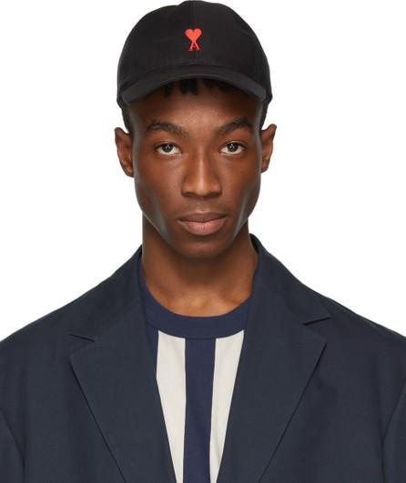 AMI Black 'Ami De Coeur' Cap