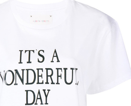 Alberta Ferretti It's a Wonderfull Day T-shirt
