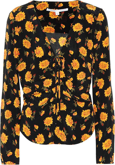 Veronica Beard Maisle printed silk blouse