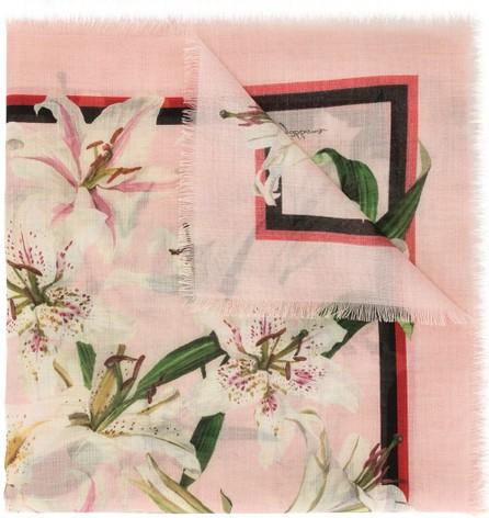 Dolce & Gabbana Lily print scarf