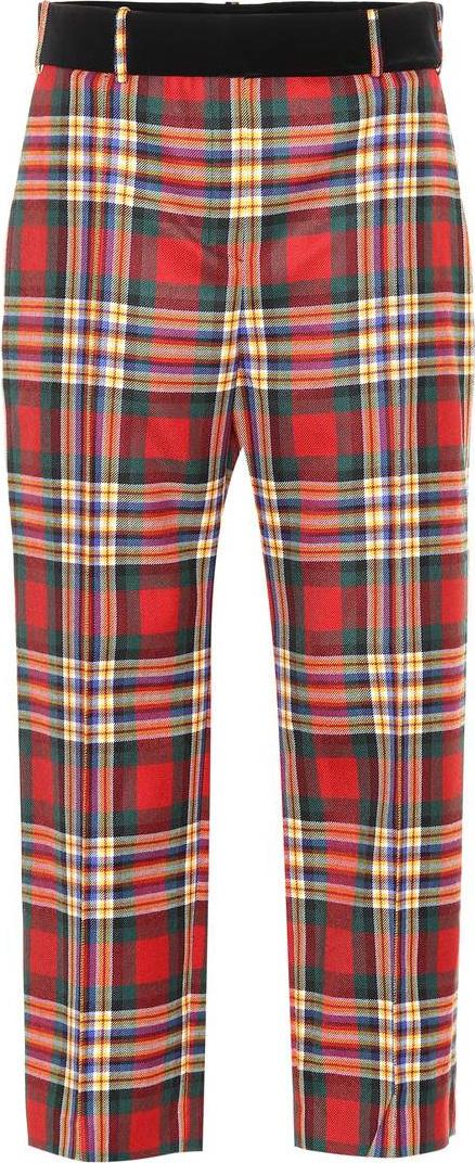 Alexandre Vauthier Tartan wool pants