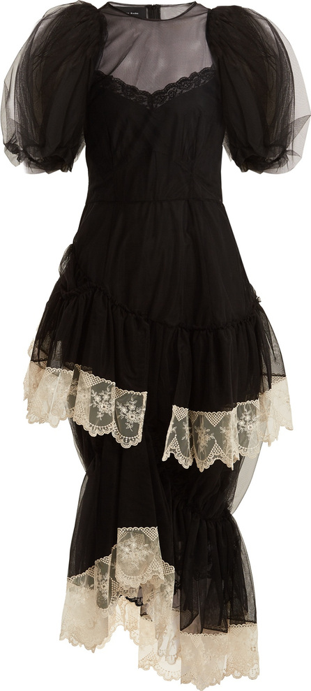 Simone Rocha Ruffled lace-trimmed tulle dress