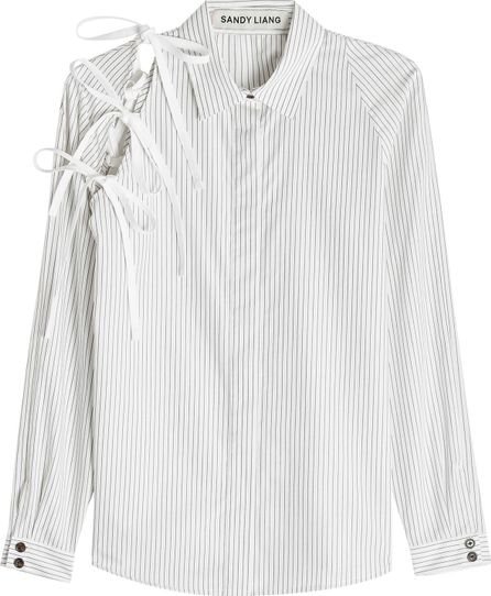 Sandy Liang Lena Cotton Shirt with Bows