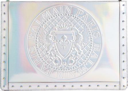 Balmain Embossed Coin Calfskin Bag
