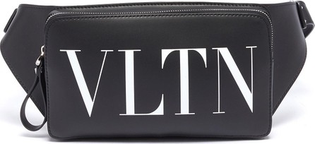 Valentino Logo print leather bum bag