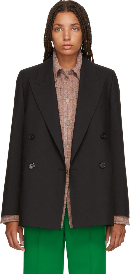 Acne Studios Black Double-Breasted Suit Blazer