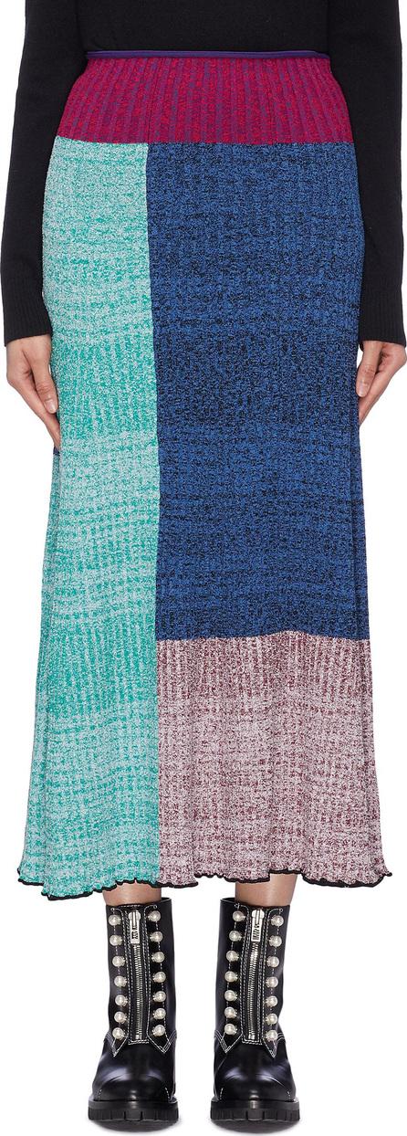 3.1 Phillip Lim Colourblock patchwork rib knit skirt