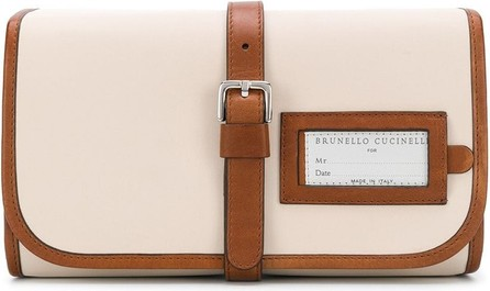 Brunello Cucinelli Contrast trimmed wash bag