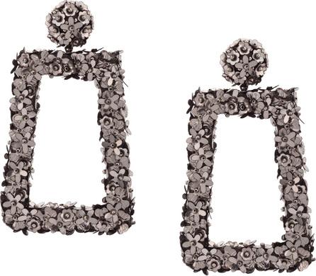 Sachin & Babi Floral frame earrings