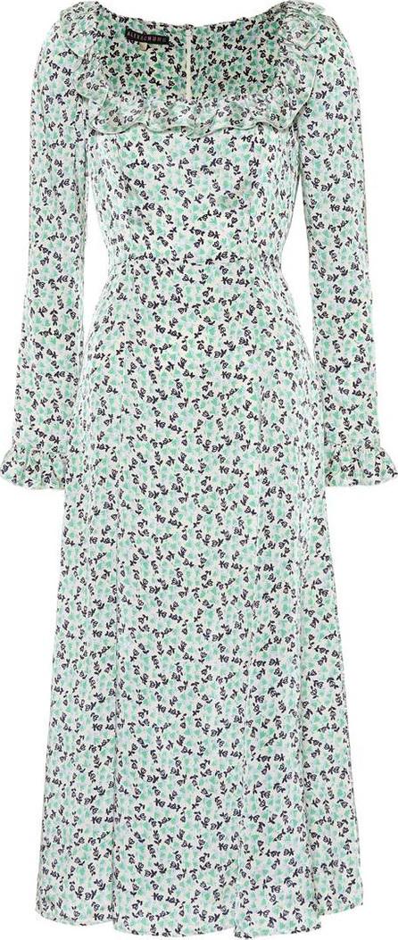 Alexachung Floral-printed satin dress