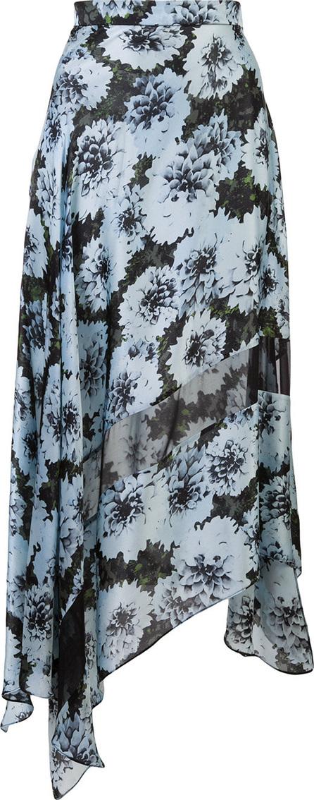 Fleur Du Mal Floral print asymmetric skirt