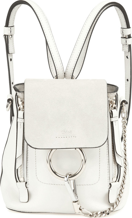 Chloe Faye Mini Leather/Suede Backpack