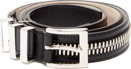 Balmain Zip-detailed leather belt