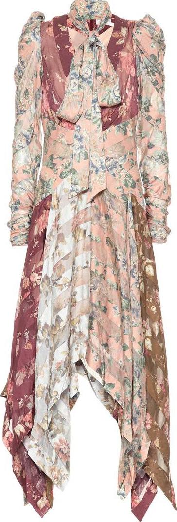 Zimmermann Printed silk dress