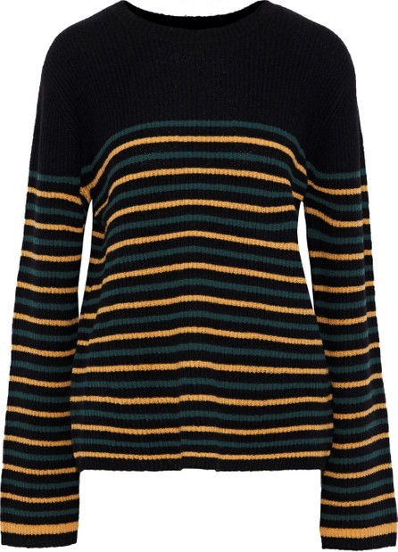 A.L.C. Meryl striped ribbed wool-blend sweater