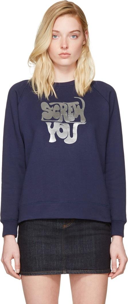 Alexachung Navy 'Screw You' Sweatshirt