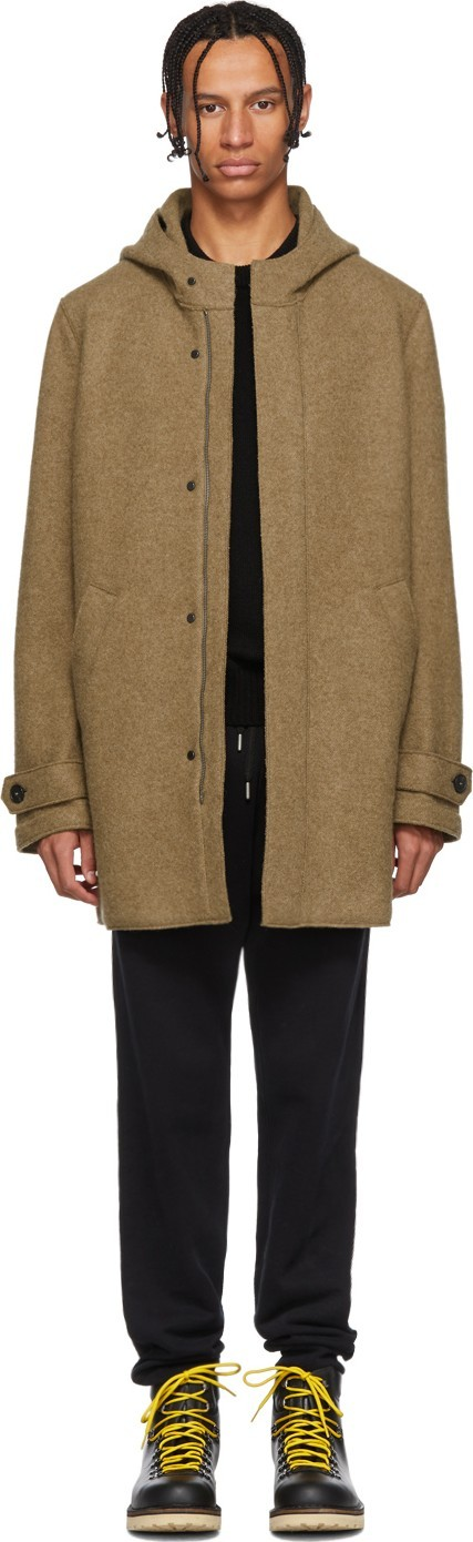 Harris Wharf London Brown Alpaca Long Parka