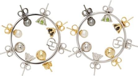 D'heygere Silver Wheel Hoop Earrings