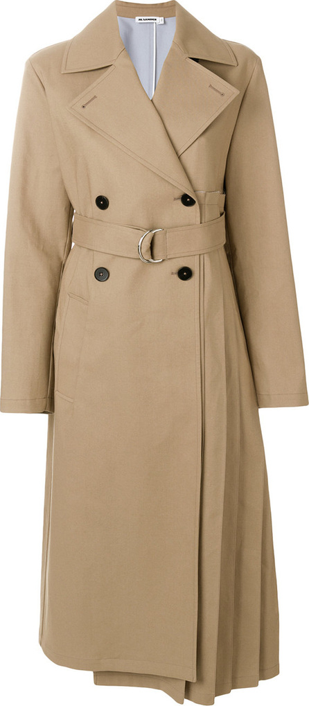 Jil Sander Pleat detail trench coat