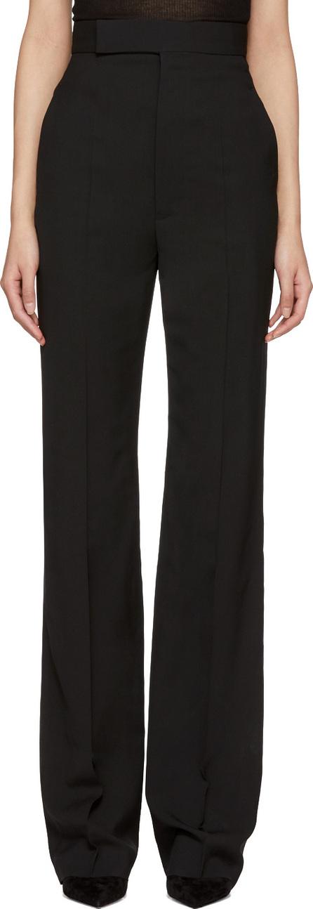 Haider Ackermann Black Wool High-Waisted Trousers