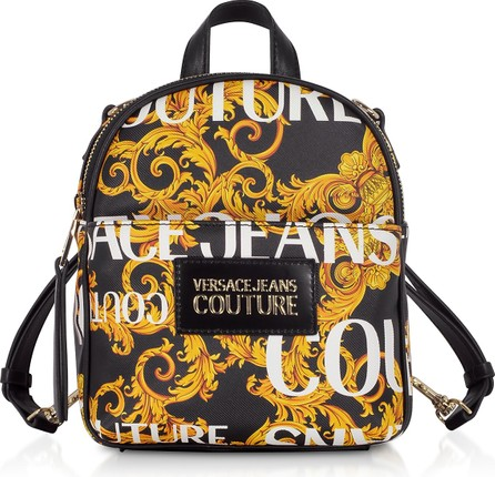 Versace Jeans Couture Gold Signature Print Small Backpack