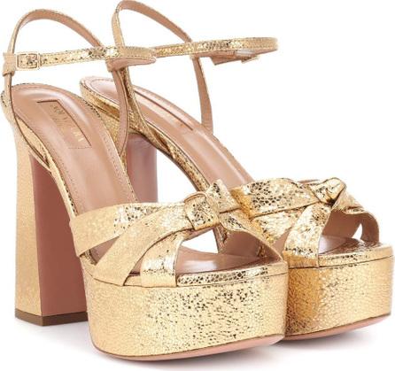 Aquazzura Baba 125 leather plateau sandals