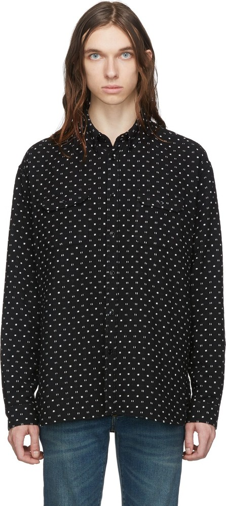 Saint Laurent Black Jacquard Guillemets Shirt