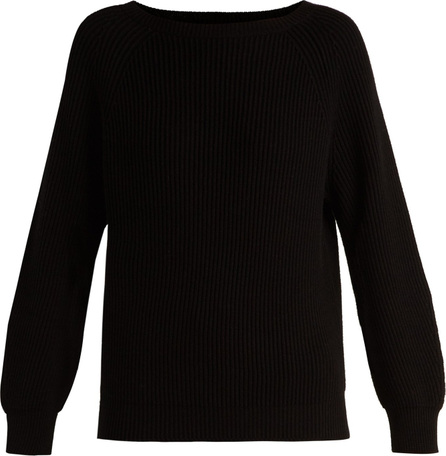 Weekend Max Mara Boat-neck cotton and wool-blend sweater