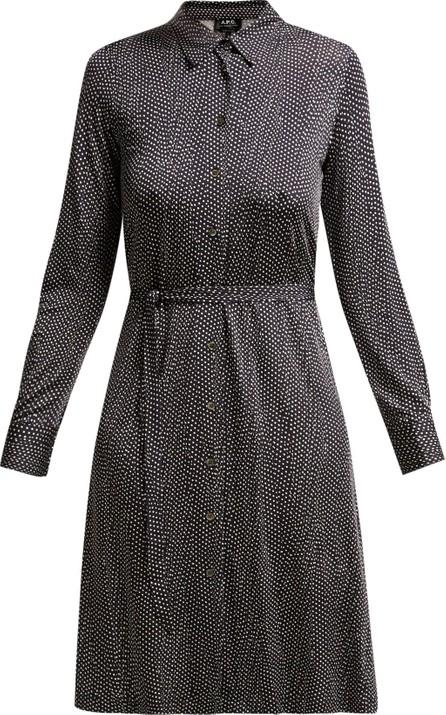A.P.C. Coco polka-dot tie-waist dress
