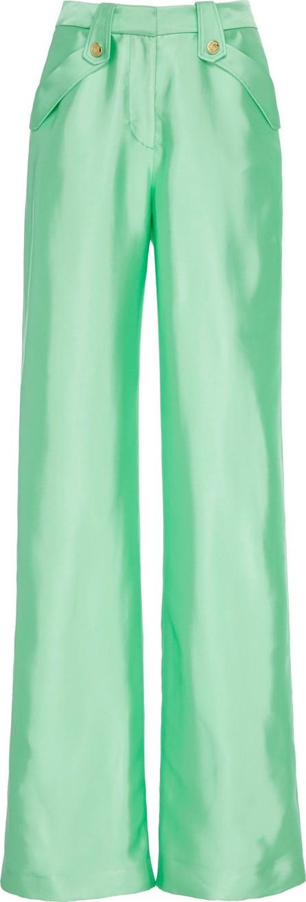 b6ad49c420a Brandon Maxwell High-Rise Wide-Leg Liquid Satin Pants