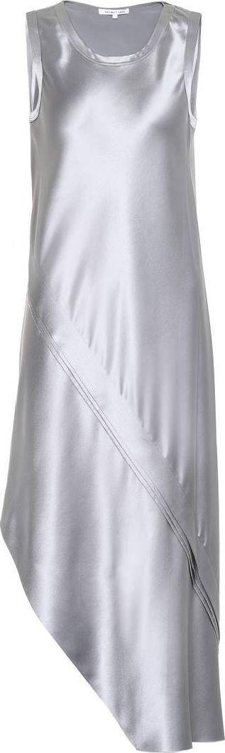 Helmut Lang Asymmetric silk-satin dress