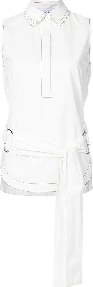 Derek Lam 10 Crosby wrap front sleeveless shirt