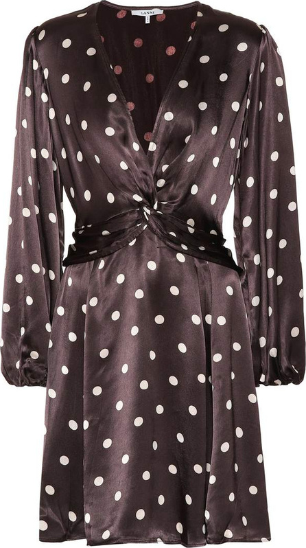 Ganni Cameron polka-dot dress