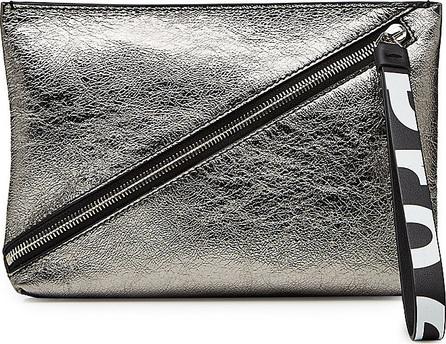 Proenza Schouler Zip Pouch Metallic Leather Clutch