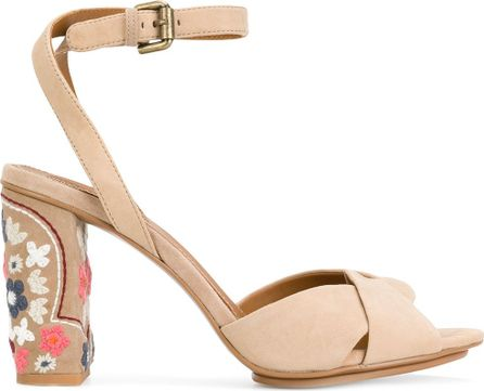See By Chloé Embroidered heel sandals