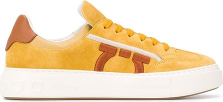 Salvatore Ferragamo Low top suede sneakers