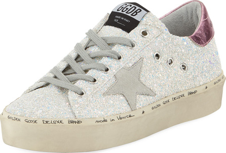 Golden Goose Deluxe Brand Hi Star Glitter Platform Sneaker