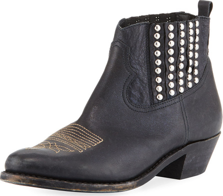 Golden Goose Deluxe Brand Crosby Short Studded Leather Cowboy Boot