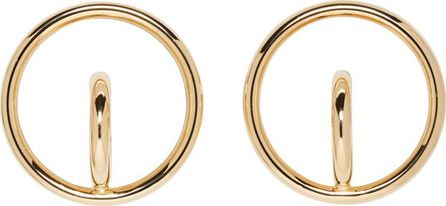 Charlotte Chesnais Gold Large Saturn Blow Earrings