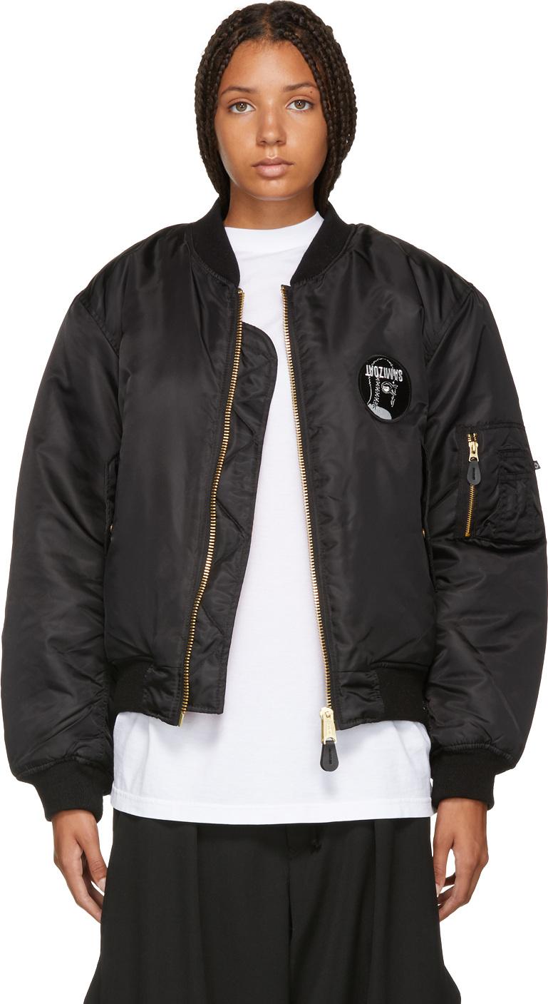 Yang Li - Black Logo Bomber Jacket