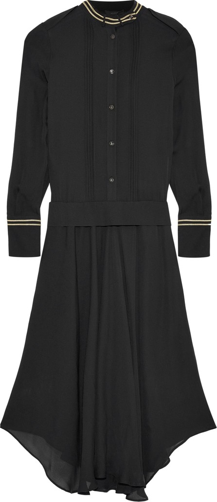 Belstaff Mareena lamé-trimmed pleated silk-chiffon midi dress