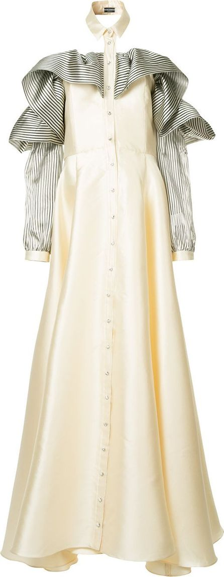 Alexis Mabille Ruffled sleeve gown