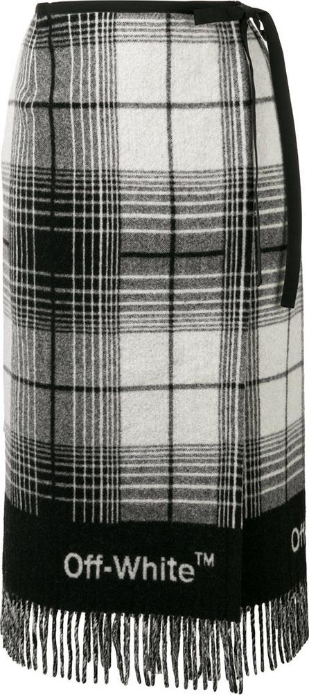 Off White Check blanket skirt