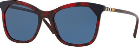 Burberry London England Square Acetate Sunglasses