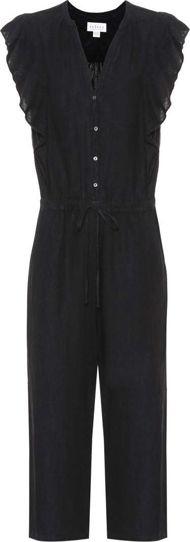 Velvet By Graham & Spencer Faretta linen jumpsuit