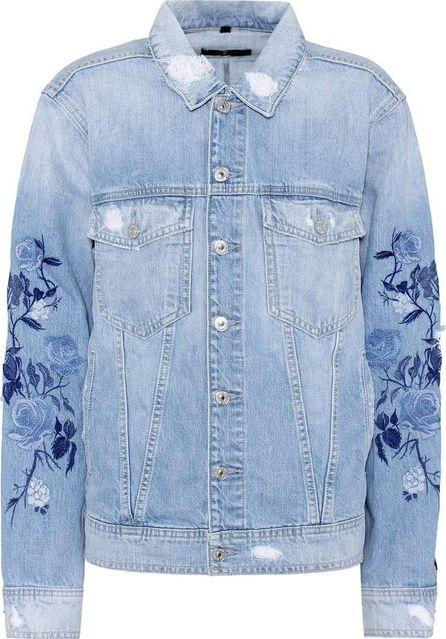 7 For All Mankind Boyfriend embroidered denim jacket
